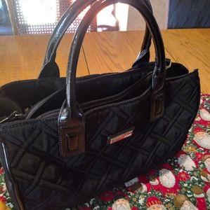 Vera Bradley black quilted and black Patton purse
